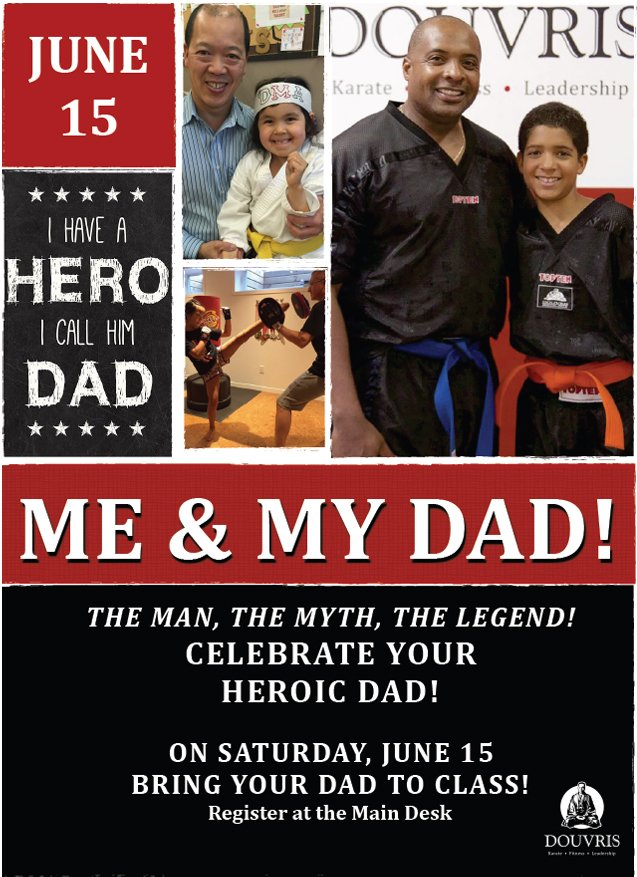 Train with Dad on Father's Day poster