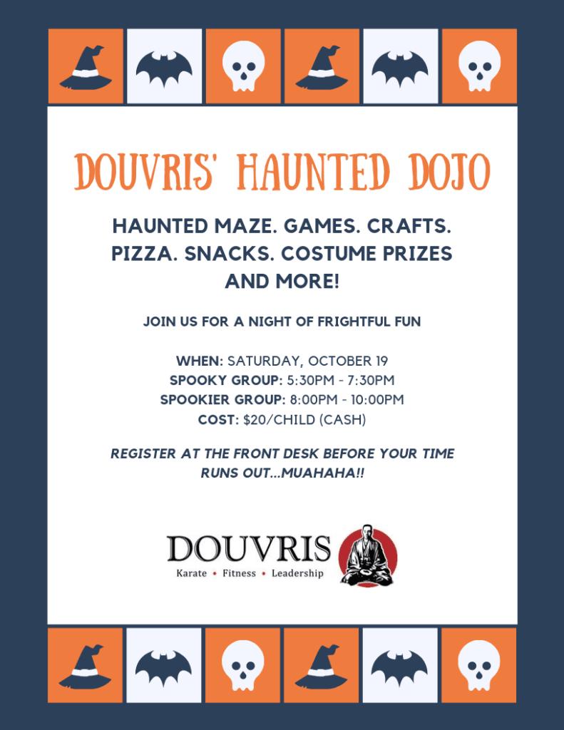Douvris Haunted Dojo Poster